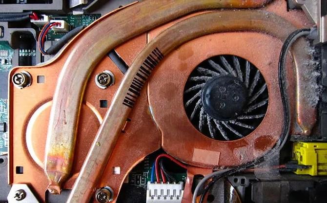 Clean your noisy laptop fan