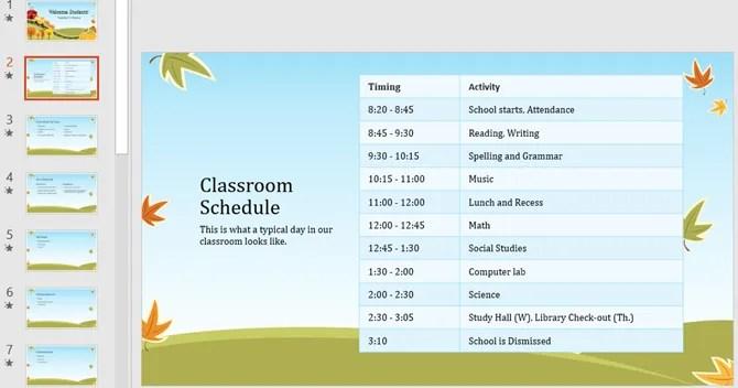 вернуться к шаблону powerpoint для начальной школы