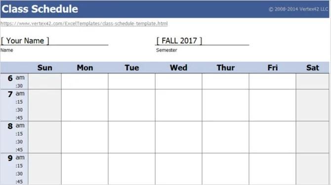 расписание занятий vertex42