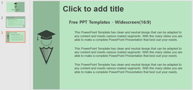 образовательная концепция бесплатный шаблон powerpoint