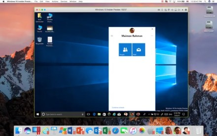Parallels running Windows on a Mac