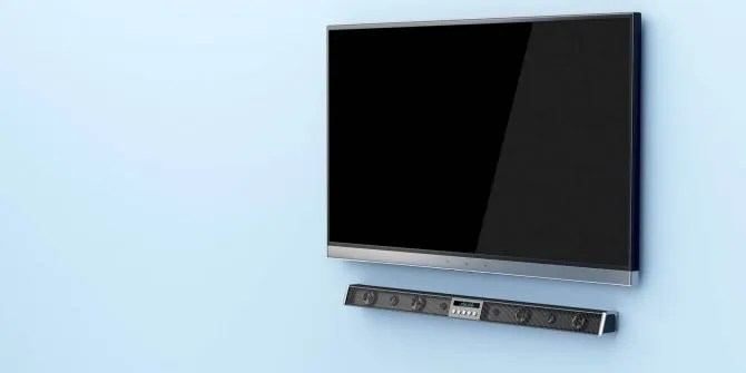 Use a soundbar - soundbar & TV