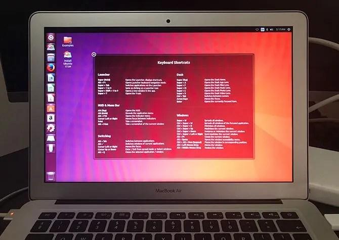 Ubuntu работает на MacBook Air