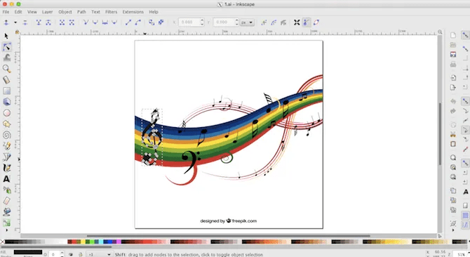 Inkscape can import AI files