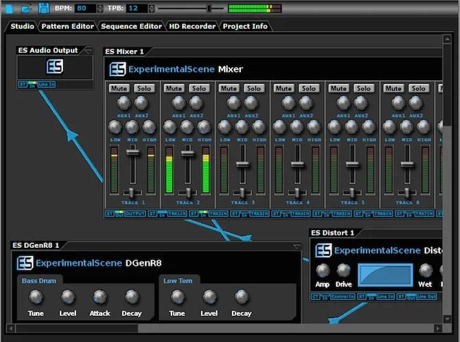 DarkWave Studio free Windows music production software - The Internet Tips