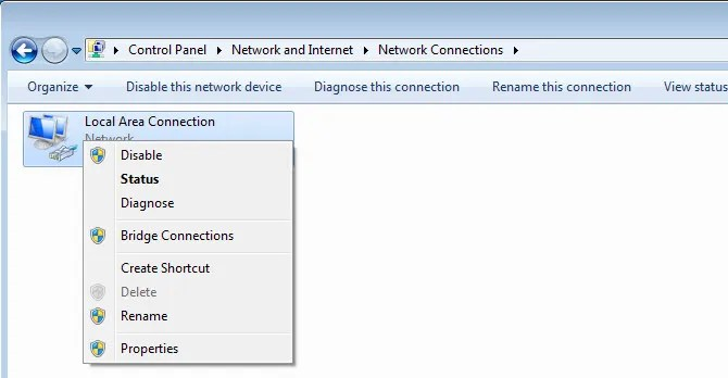 Windows 7 disable network adapter - The Internet Tips