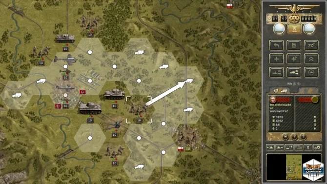 Скриншот планирования стратегии танкового корпуса