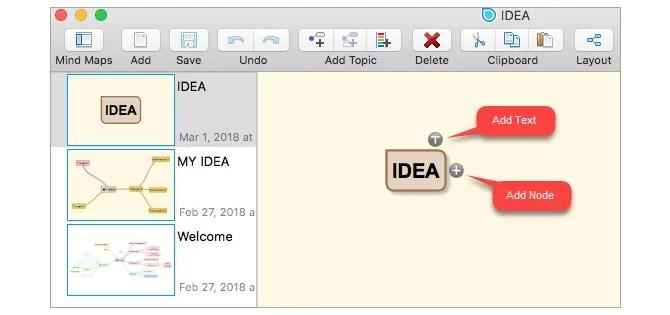 SimpleMind Lite Mac Mind Карта