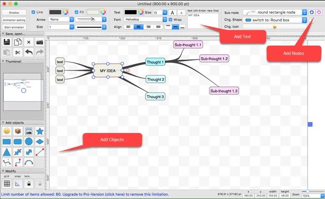 SimpleMindMap Mac Mind Map