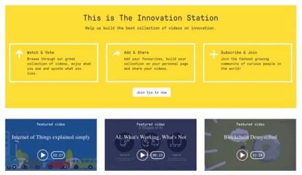 The Innovation Station website