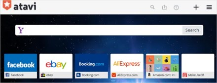 sync bookmarks with Atavi - main page