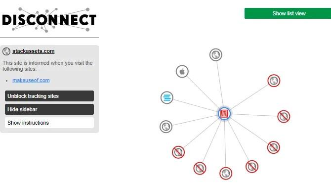 узнать, кто отслеживает вас в Интернете, с помощью Disconnect