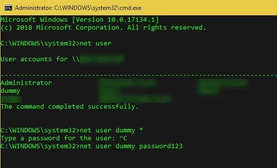 Windows-Change-Password-Command-Line