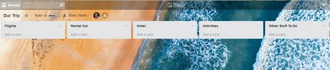 TrelloTrip AddLists - How to Plan Your Next Vacation or Business Trip Using Trello