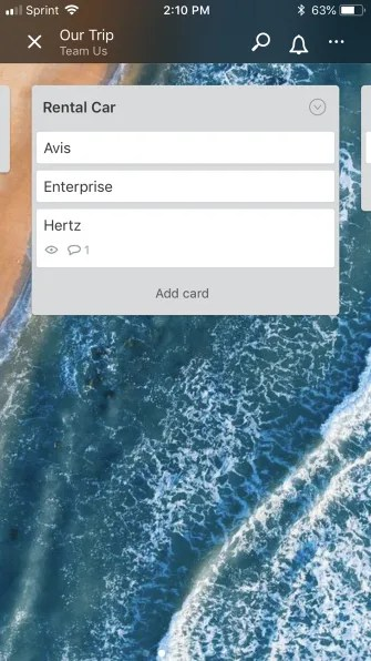 TrelloTripApp List 335x596 - How to Plan Your Next Vacation or Business Trip Using Trello