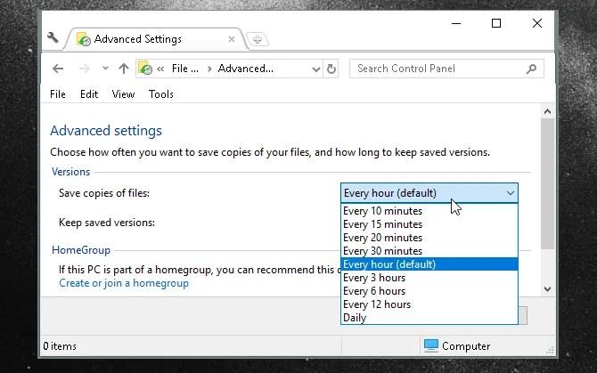 file history advanced settings - The Ultimate Windows 10 Data Backup Guide