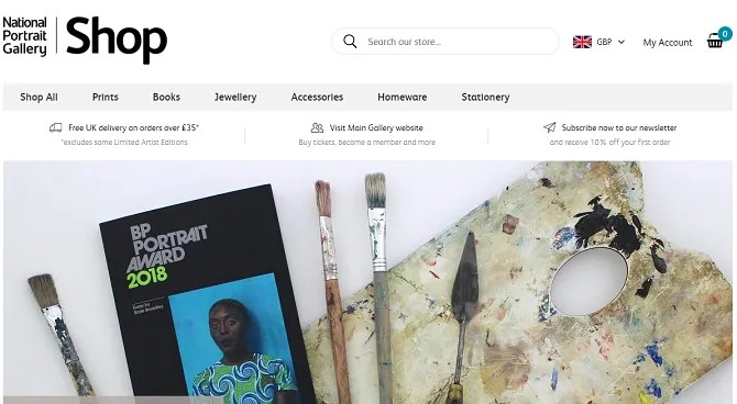 national portrait gallery 670x368 - The 20 Best Shopify Stores to Try Instead of Amazon or eBay