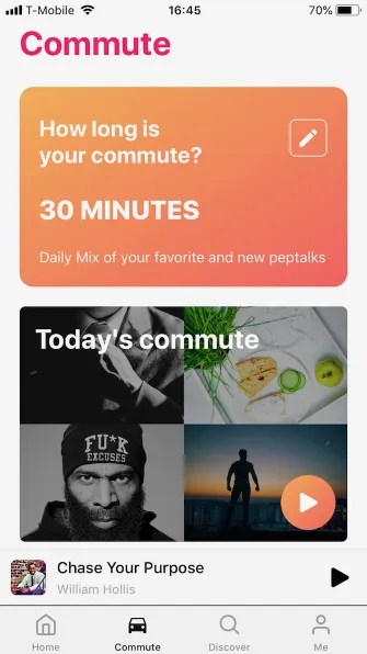 peptalks commute 335x596 - 5 Motivational Apps for iPhone to Help You Think Positive