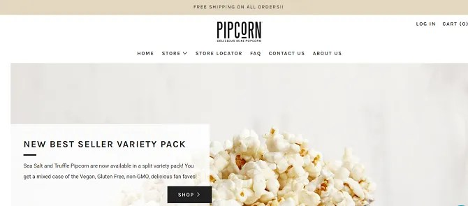 pipcorn 670x295 - The 20 Best Shopify Stores to Try Instead of Amazon or eBay