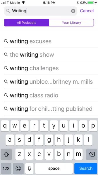 podcast search 335x596 - A Guide to the (Surprisingly Excellent) iPhone Podcasts App
