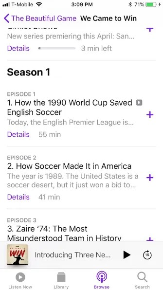 podcast selection 335x596 - A Guide to the (Surprisingly Excellent) iPhone Podcasts App