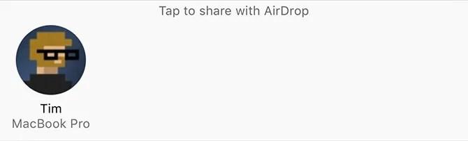Share via AirDrop
