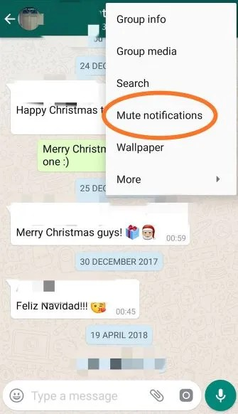 whatsapp screenshot 1 335x582 - How to Mute People on Social Media: Facebook, WhatsApp, Reddit, and More