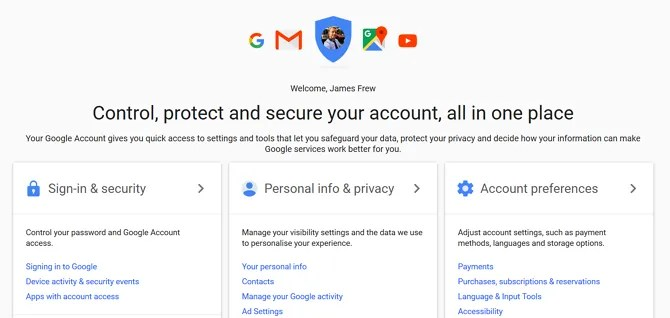 Google My Account - 5 Surprising Ways Google Improves Your Online Security