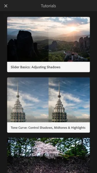 Guided Tutorials 335x596 - How to Enable Technology Previews on Lightroom Mobile