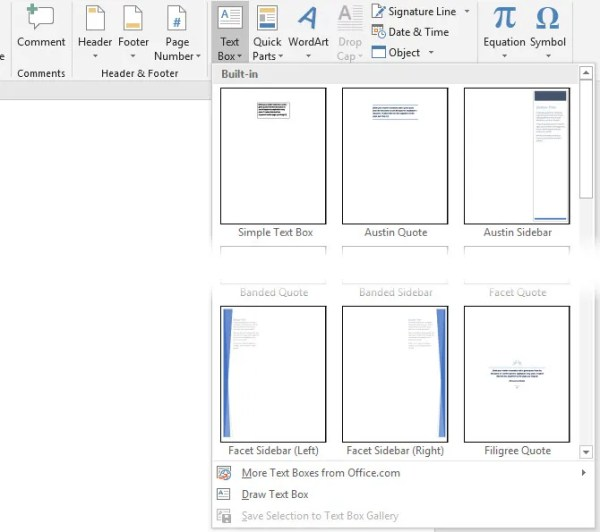 How to Add Custom Design Text Boxes in Microsoft Word ...