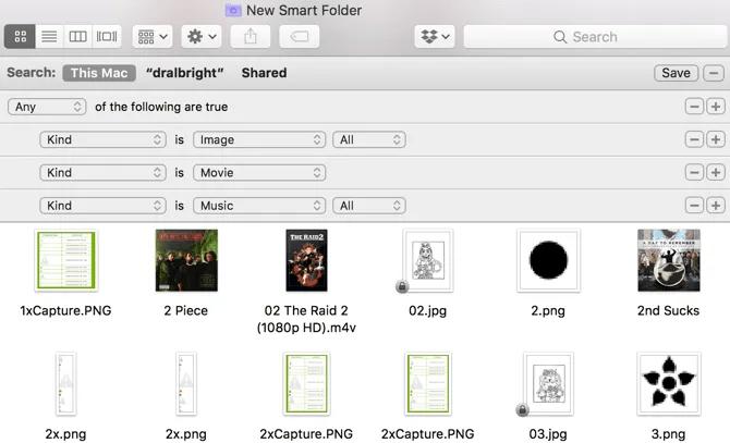 Mac Smart Folder Movie Files