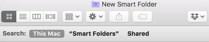 New Smart Folder Search This Mac