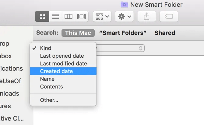 Mac Search Criteria
