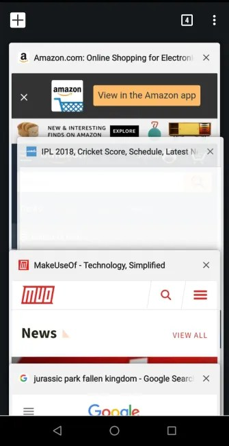 swipe down to see tab overview chrome 335x651 - The 5 Best Android Browsers With Powerful Gesture Support