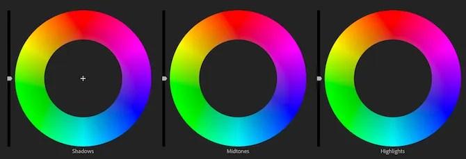 Premiere Pro color wheels