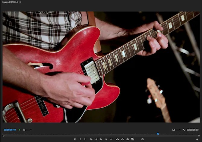 Premiere Pro image with reduced saturation