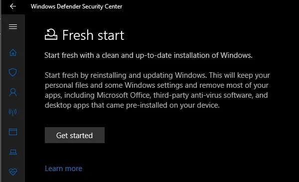 Windows Defender Fresh Start - 4 Ways to Factory Reset Your Windows Computer