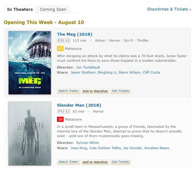 IMDb Coming Soon