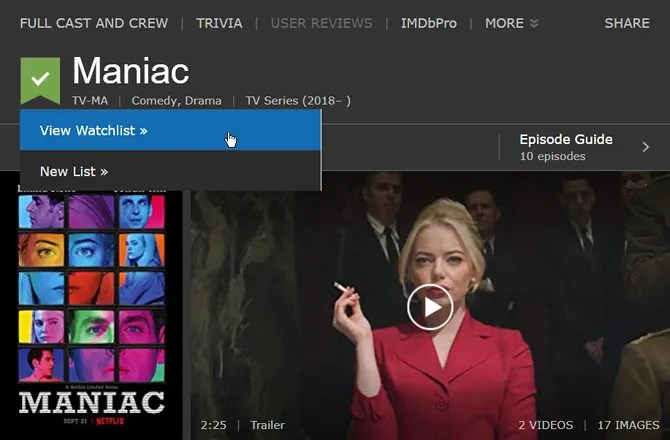 IMDb Watchlist