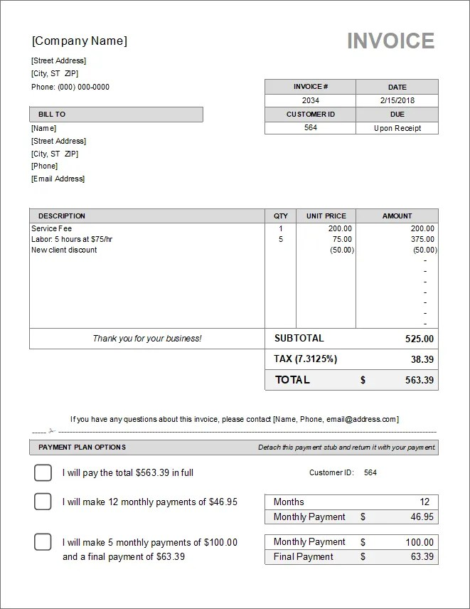 10 Simple Invoice Templates Every Freelancer Should Use Bardtech