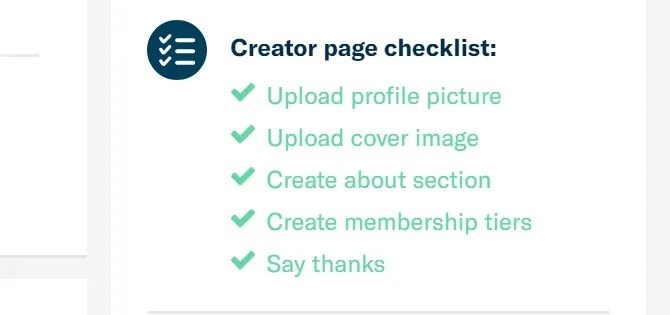 creator checklist - How to Launch a Successful Patreon Page