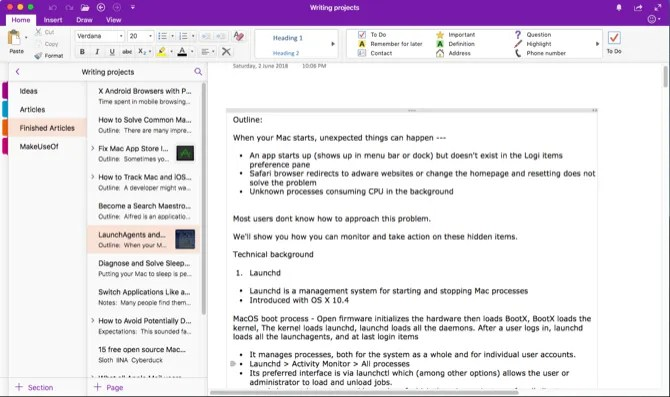 manage a notebook with onenote - Write Better on Your Mac With These 9 Apps and Tricks
