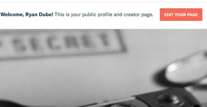 patreon page1 - How to Launch a Successful Patreon Page