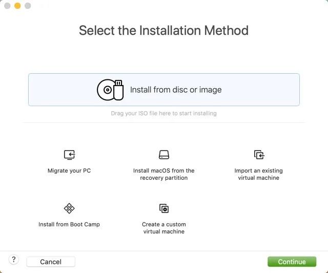 Metodo di installazione di Fusion
