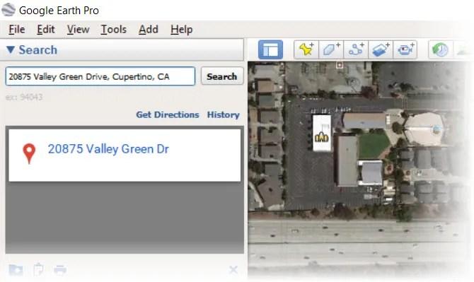 Vista satellitare della tua casa