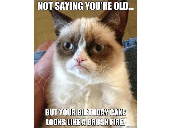 Meme Compleanno Grumpy Cat