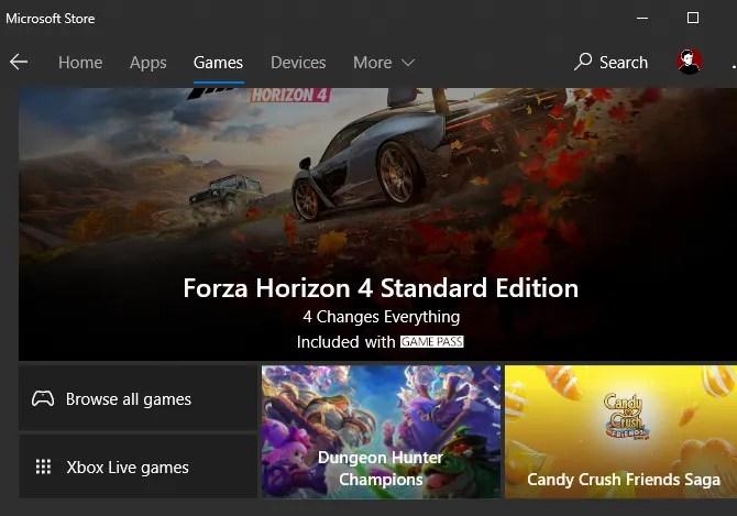 Giochi di Microsoft Store