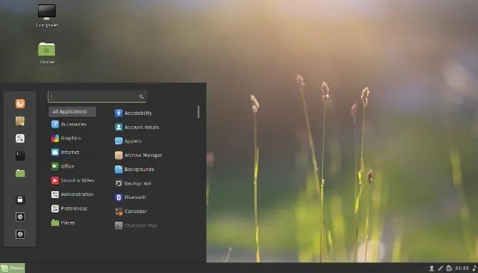 L'ambiente desktop Cinnamon
