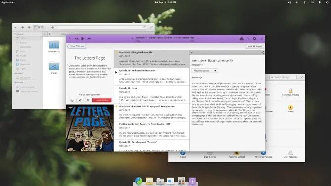 L'ambiente desktop Pantheon