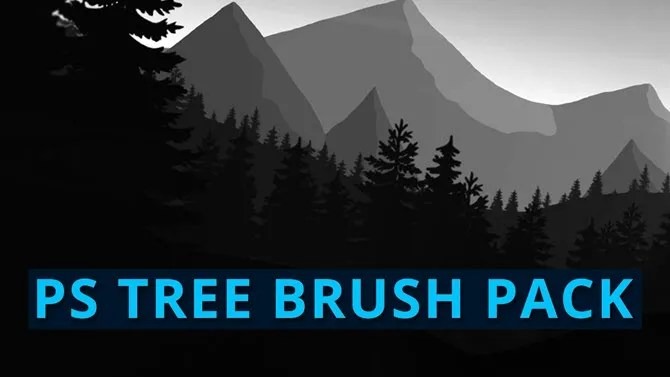 Set di pennelli per alberi gratuito di Adobe Photoshop